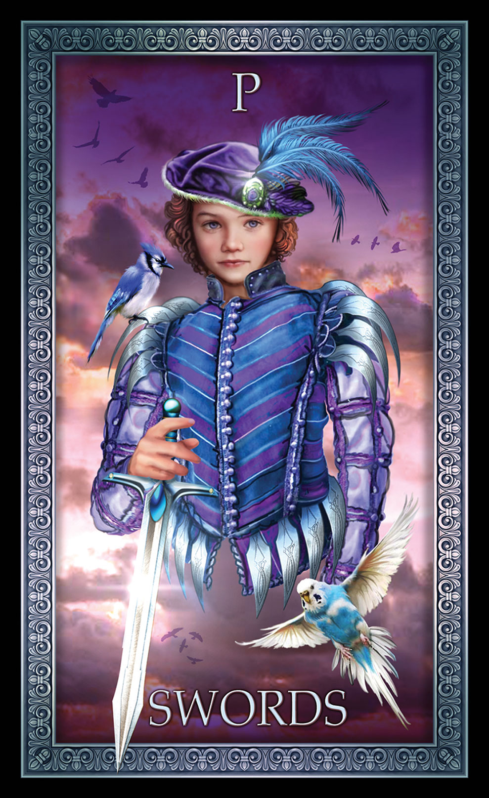 Tarot Grande Luxe Page of Swords Card