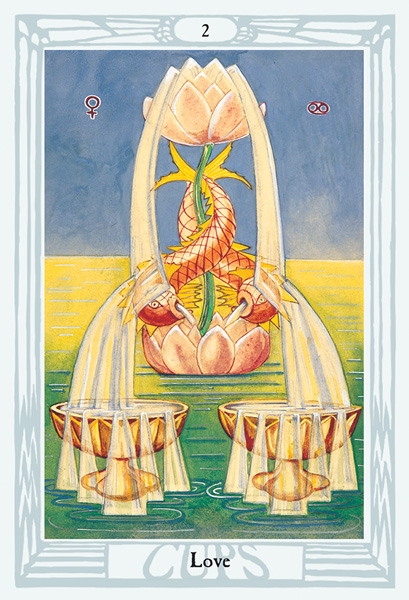 Thoth Tarot Two of Cups Card