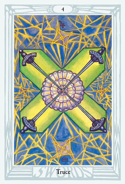 Thoth Tarot Four of Swords Card