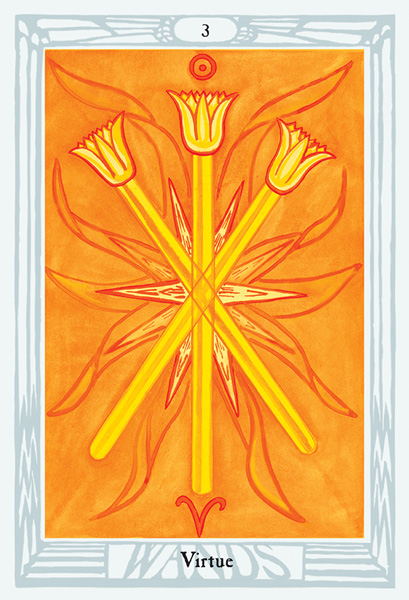 Thoth Tarot Four of Wands