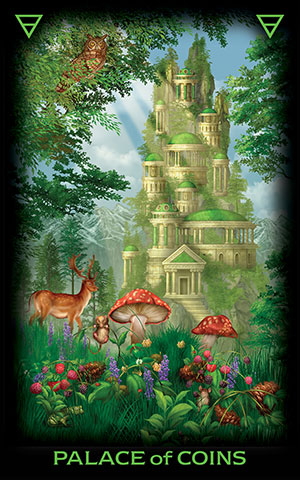 Tarot of Dreams Palace of Coins Card