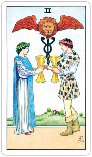 Universal Rider Waite Tarot 2 of Cups