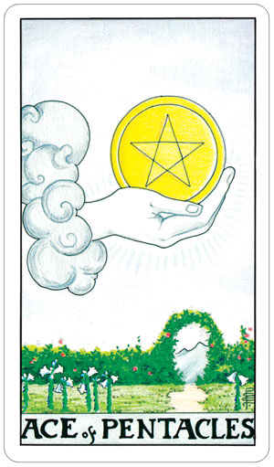 Universal Rider Waite Tarot Ace of Pentacles