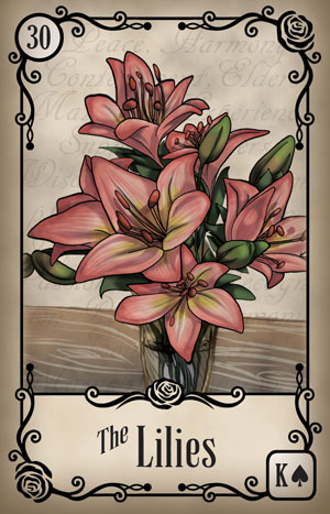 Under the Roses Lilies Card