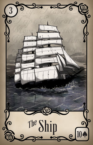 Under the Roses Ship Card
