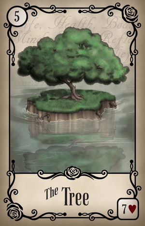 Under the Roses Tree Card