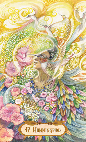 Winged Enchantment Oracle Hummingbird