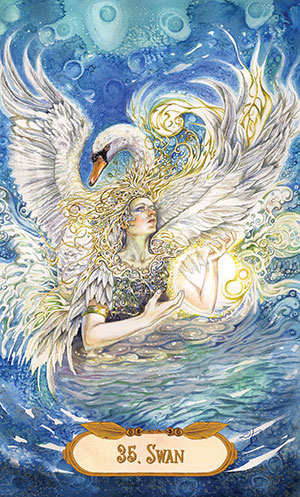 Winged Enchantment Swan Card