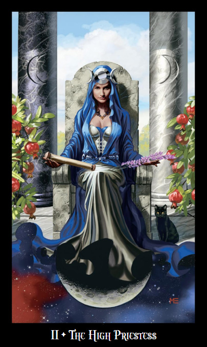 Witches Tarot High Priestess Card