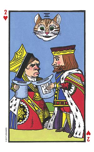 Wonderland Tarot Two of Cups Card