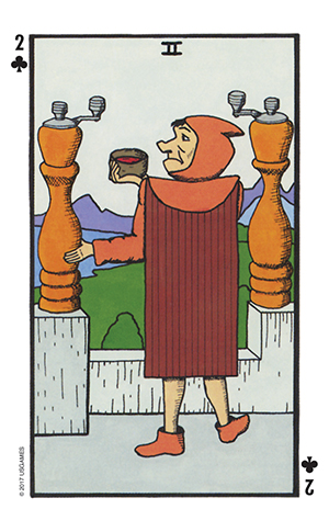 Wonderland Tarot Two of Wands Card
