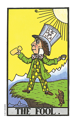 Wonderland Tarot Fool Card