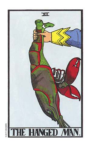 Wonderland Tarot Hanged Man Card