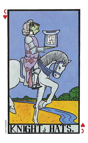 Wonderland Tarot Knight of Cups Card