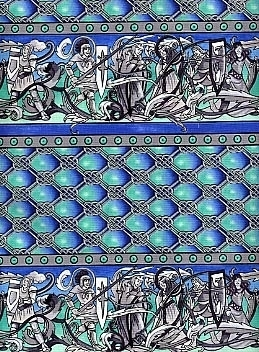 Camelot Blue Fabric Swatch
