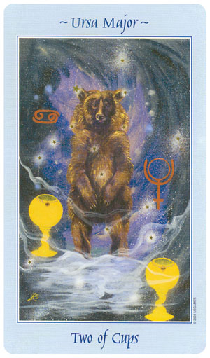 Celestial Tarot 2 of Cups Card