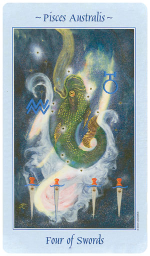 Celestial Tarot 4 of Swords