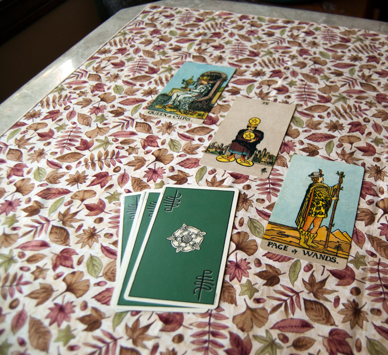 Autumn Leaves Tarot Cloth