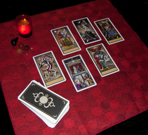Blood Moon Tarot Cloth