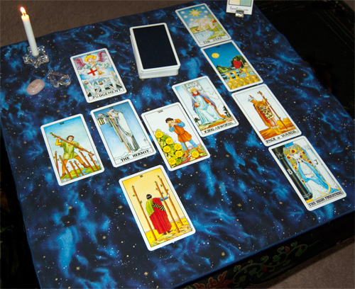 Galaxies Tarot or Altar Cloth