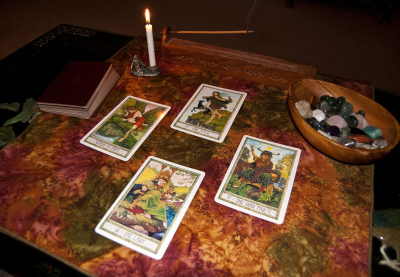 Samhain Tarot Cloth with Druidcraft Tarot