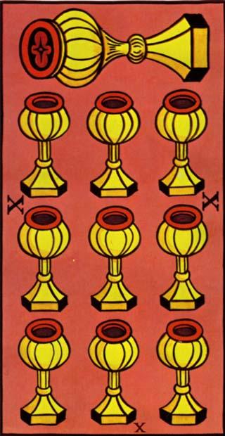 Marseilles Tarot 10 of Cups