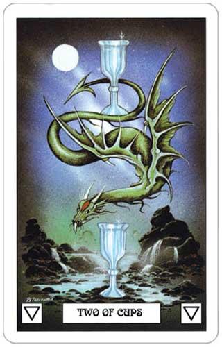 Dragon Tarot 2 of Cups