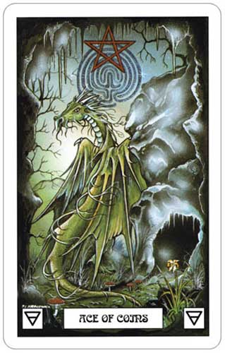 Dragon Tarot Ace of Coins