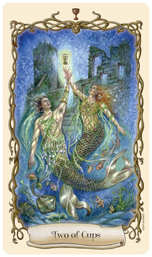 Fantastical Creatures Tarot 2 of Cups Card