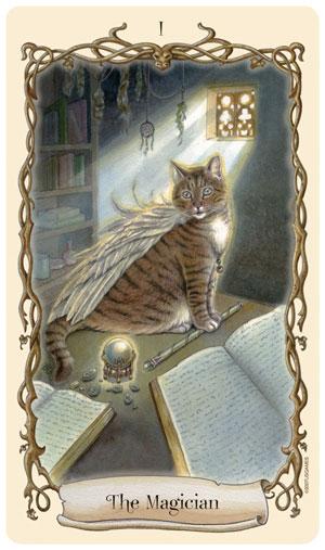 Fantastical Creatures Tarot Magician Card