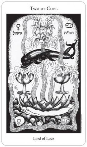 Hermetic Tarot 2 of Cups