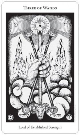 Hermetic Tarot 3 of Wands