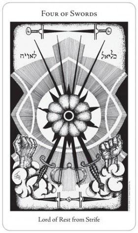 Hermetic Tarot 4 of Swords