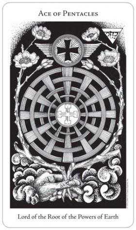 Hermetic Tarot Ace of Pentacles