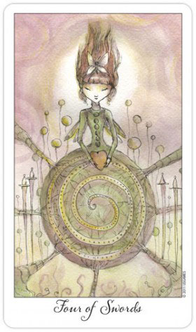Joie de Vivre Tarot 4 of Swords
