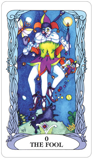 Tarot of a Moon Garden Fool Card