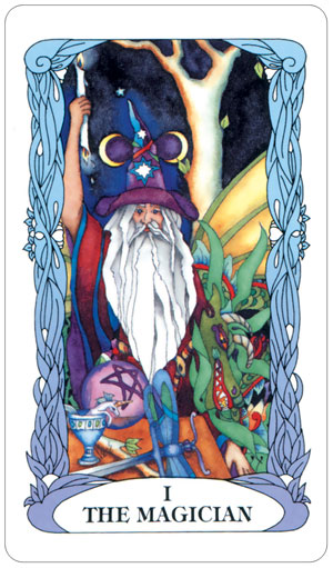 Tarot of a Moon Garden Magician Card