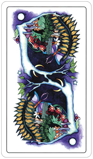 Tarot of a Moon Garden Card Backs