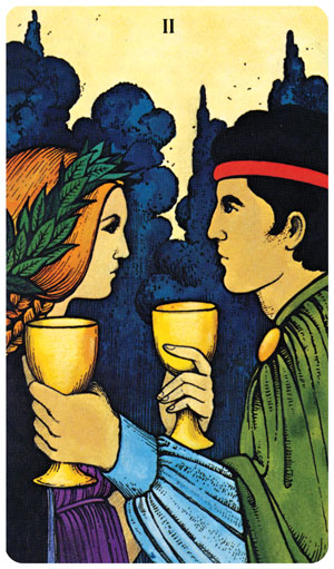 Morgan-Greer Tarot 2 of Cups
