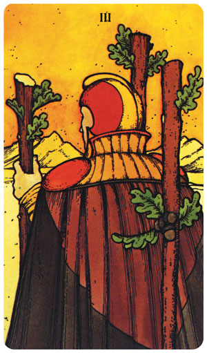 Morgan-Greer Tarot 3 of Wands