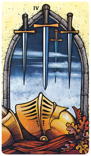 Morgan-Greer Tarot 4 of Swords