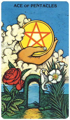 Morgan-Greer Tarot Ace of Pentacles
