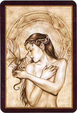 Oracle of the Dragonfae Card Back