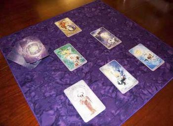 Orchid Rains Tarot Cloth