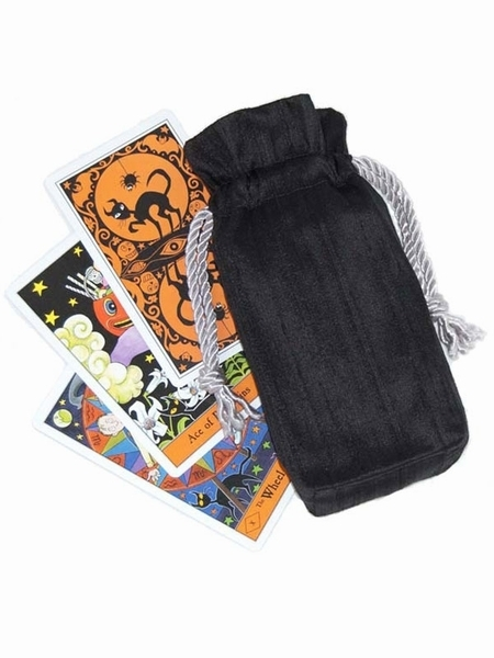 Tarot Bags Tarot Cards Cloths More: Black Silk Tarot Bag