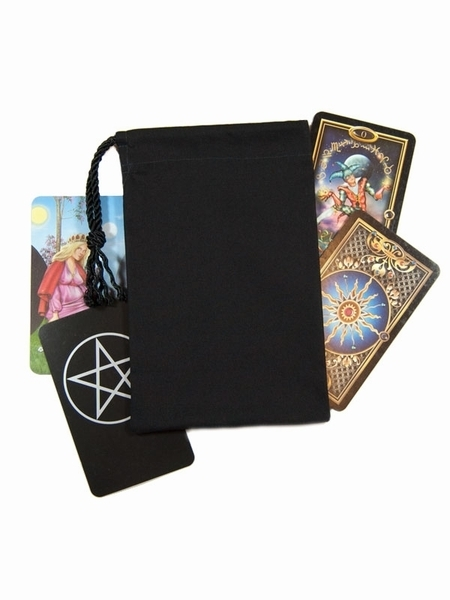 Tarot Bags Tarot Cards Cloths More: Jet Black Tarot Bag