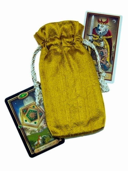 Tarot Bags Tarot Cards Cloths More: Gold Silk Tarot Bag