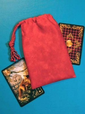Energized Small Tarot Bag - Energized Red Small Tarot Bag