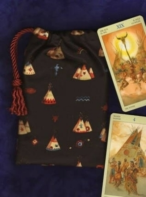 On the Plains Classic Tarot Bag - Native American Cards Teepees Tarot Bag by Tarot Totes