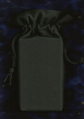 Black Double Draw Tarot Bag - Black Tarot Bag for Cards